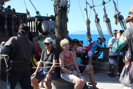 Grandparents Enjoying The Beautiful Day Picture Of Hawaii Pirate - Pirate ship cruise hawaii