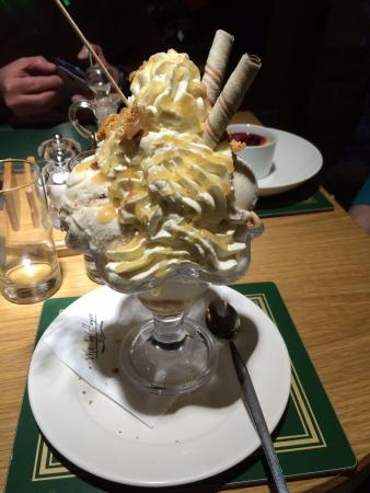 Roosters Bar & Restaurant at Morley Hayes: Extremely large, but delicious!, dessert