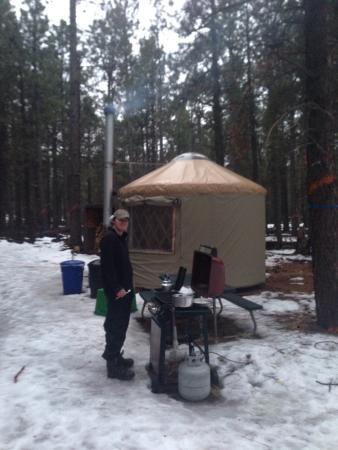 Flagstaff Nordic Center: Early morning at honeysuckle yurt