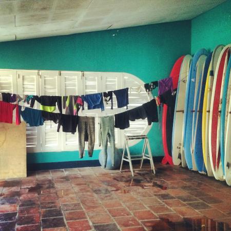 Chica Brava Surf Retreat: The board room!
