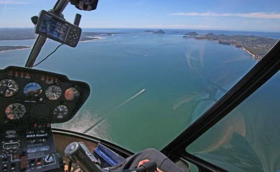 Skyline Aviation Group View Of Port Stephens From Inside Helicopter