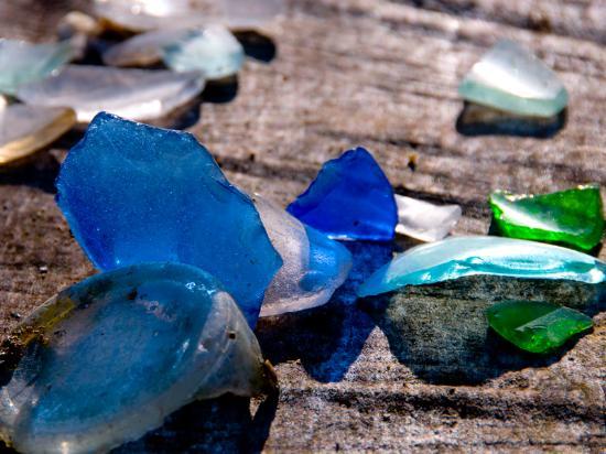 Cayucos, CA: Beach glass