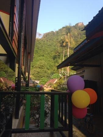 Chong Khao Bungalow: View from my ground floor room.
