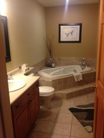 Tranquility Bay Waterfront Inn: Soaker tub (with separate stand up shower beside it)