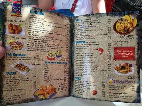 Menu picture of la cueva del mar san juan tripadvisor for Fish 101 menu