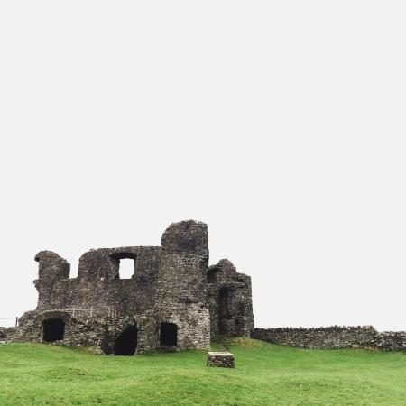 The remains of the great hall of Kendal Castle