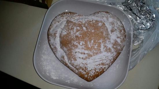 Villa Giulia: Panettone a forma di cuore per la colazione, Buonissimo!