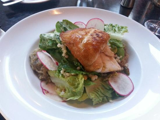 Salute: Snapper,  pan fried over salad, $33