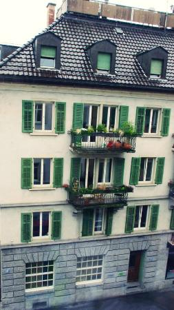 easyHotel Zürich: the view from our room