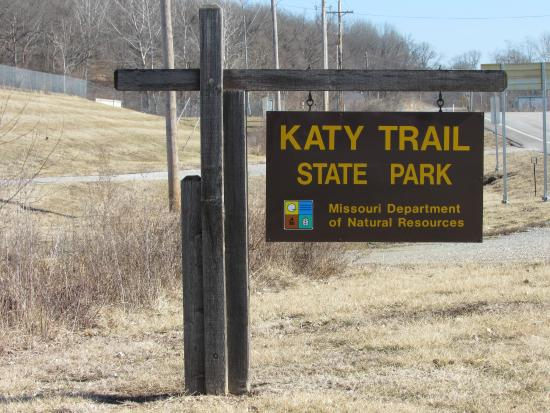 Katy Trail State Park : sign at McBaine