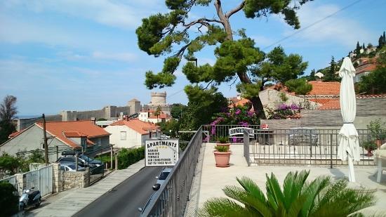 Apartments Laptalo: Blick von der Terrasse