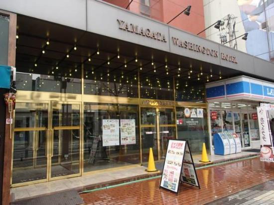 Yamagata Nanokamachi Washington Hotel: ホテル(入り口)