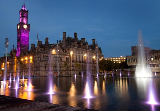 Bradford, UK: City Park at night