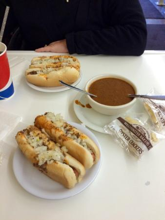 Coney Island: Delicious coneys and a bowl of their beanless chili. Both were super!