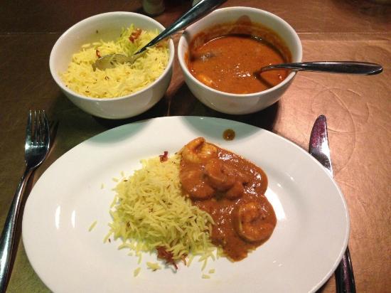 SANJAY'S  KITCHEN: Crevettes masala et riz safrané