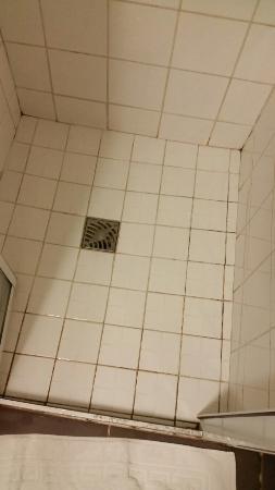 Pagny-sur-Meuse, France: Joint de la douche tres sales