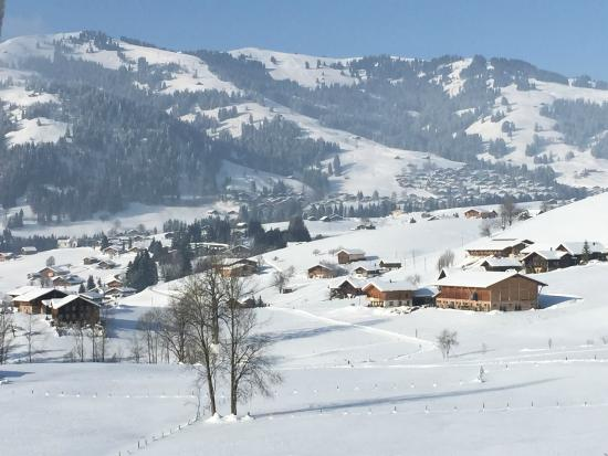 Hotel Le Grand Chalet: view from our room