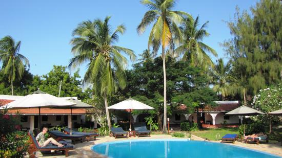 Flame Tree Cottages : Gardens and swimming pool