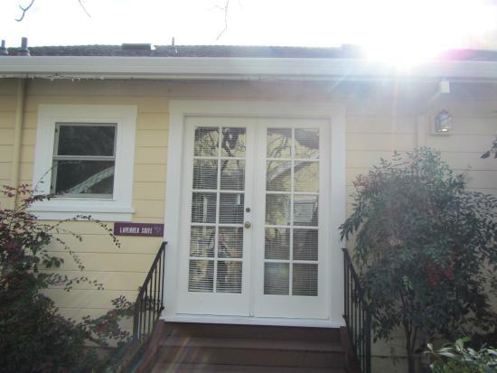 Chelsea Garden Inn: Front door of our Suite