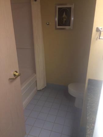 Comfort Suites University Area: Blue bathroom tile