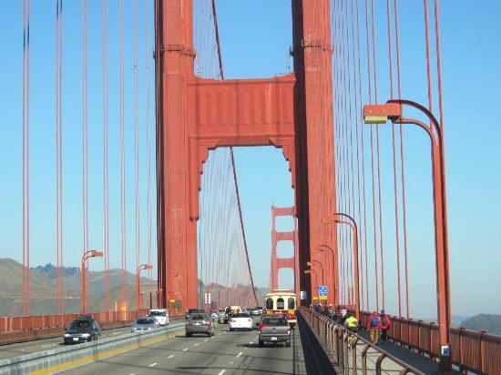 crossing the golden gate bridge