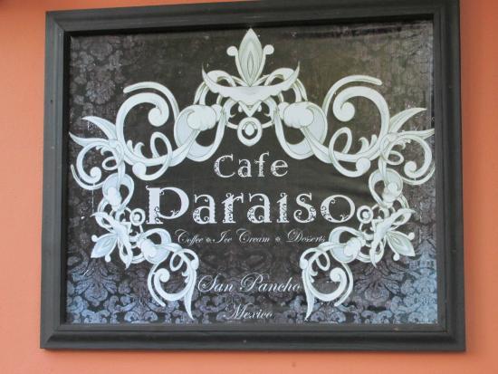 Casa Obelisco: Cafe paraiso -in town
