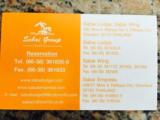 Sabai Wing: Card