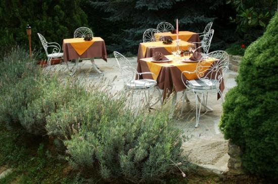 Villa San Carlo Hotel: ristorante estivo nel parco