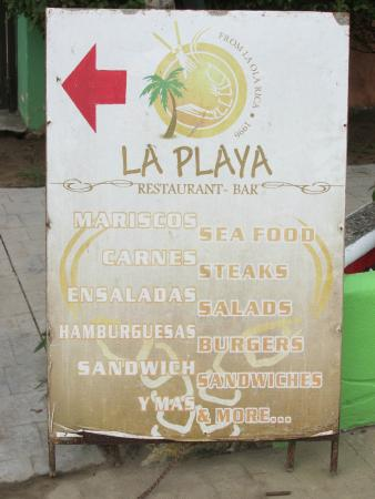 La Playa: The sign of things to come....