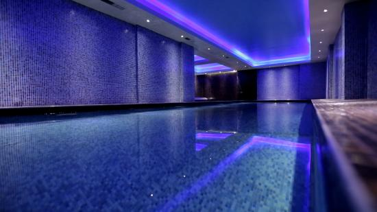 Indoor swimming pool picture of orbis design hotel spa for 18 8 salon locations