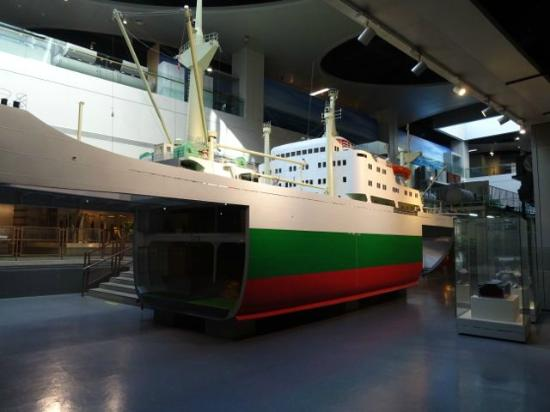 China Maritime Museum: Frachtschiffmodell