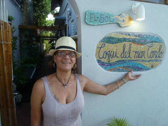 Coqui del Mar Guest House: Hostess Noyda