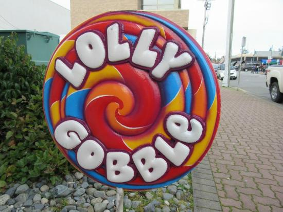 Lolly Gobble Sweet Shop: Signage