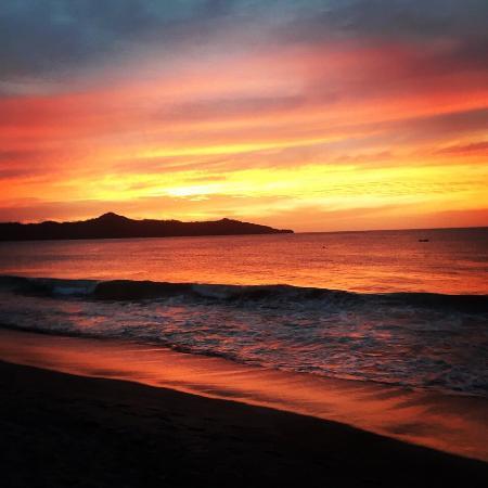 Playa Brasilito Horseback with beach sunset.