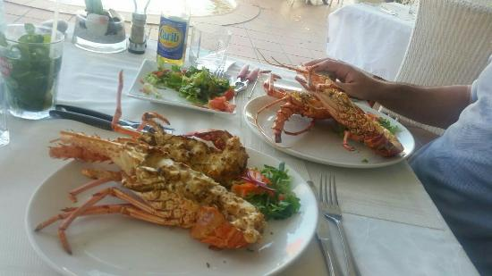 La Langouste: Thermidor and grilled