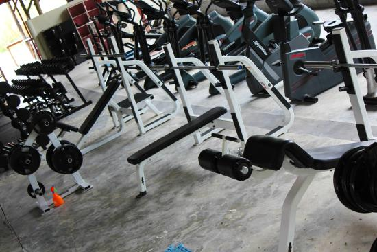 Koh Phangan Muay Thai and Fitness Gym: Olympic Benches