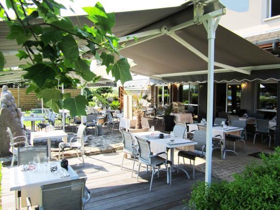 Anemotel : Terrasse restaurant