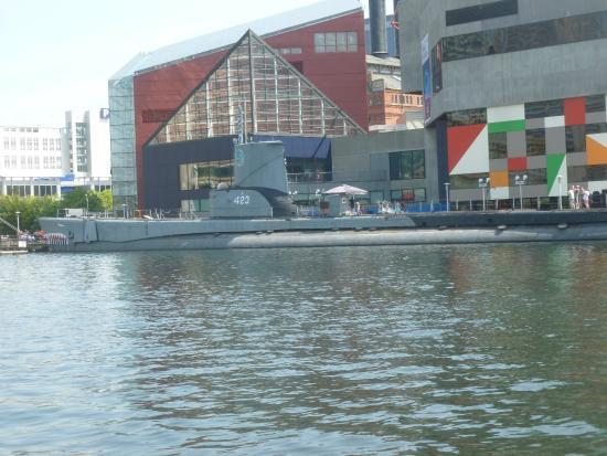 Submarine and national aquarium picture of inner harbor for Fish store baltimore