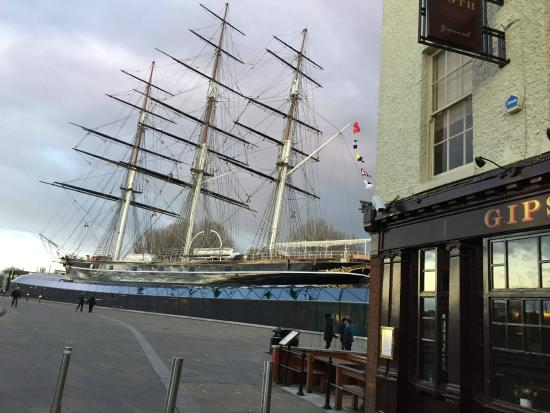 Cutty Sark outside the Gipsy Moth