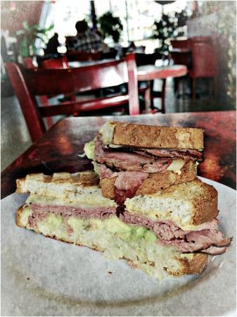 Cafe Boheme: Reuben Special on Gluten Free Bread