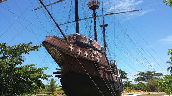 Porto Seguro, BA: Replica das caravelas que chegaram ao Brasil em 1500