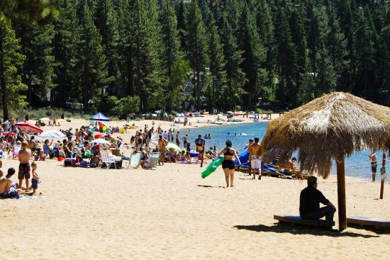 Zephyr Cove Beach On Lake Tahoe