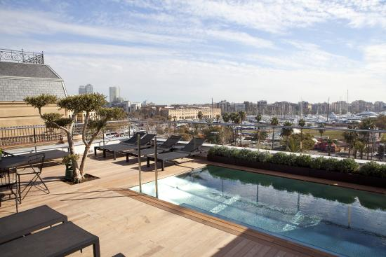 rooftop picture of hotel the serras barcelona tripadvisor. Black Bedroom Furniture Sets. Home Design Ideas