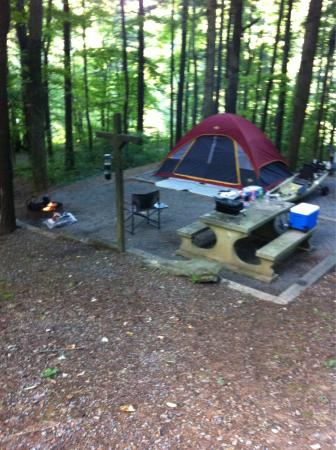 Fort Mountain State Park: Great spots close to the Lake for some kayak fishing.  And there are some good Bass in this smal