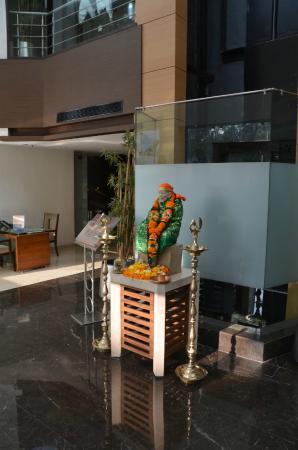 Shrine in hotel lobby