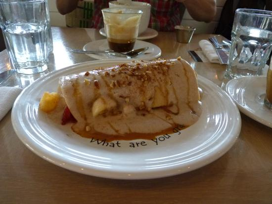 raw crepe at Cafe Gratitude