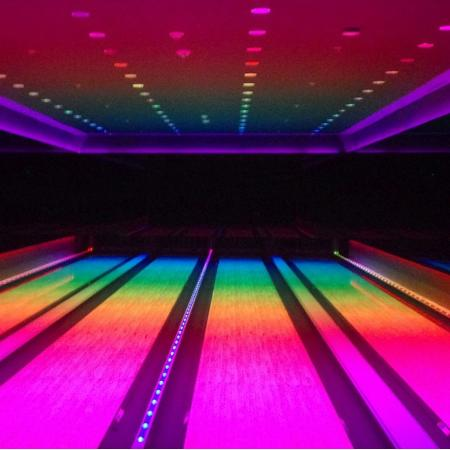 The Miami Beach Edition Rainbow Bowling Alley
