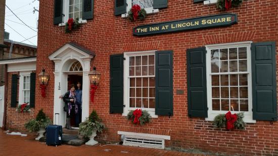Inn at Lincoln Square: Departure ... Jeannine (Inn Keeper) in doorway