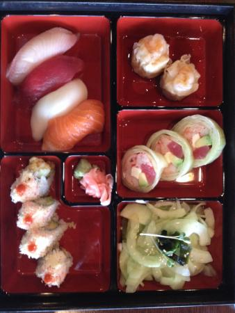sushi bento box picture of sushi at the lake too mooresville tripadvisor. Black Bedroom Furniture Sets. Home Design Ideas