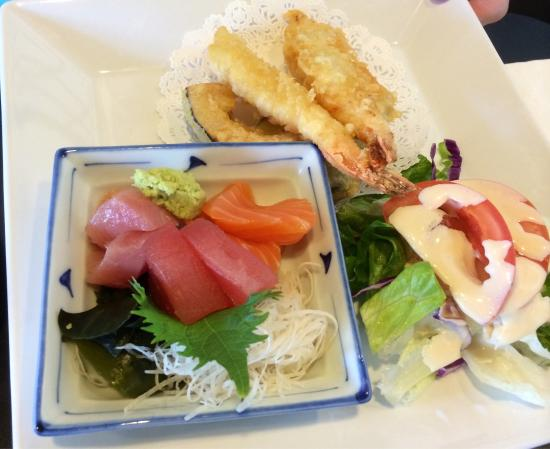 Mister Sushi: Sashimi and tempura lunch